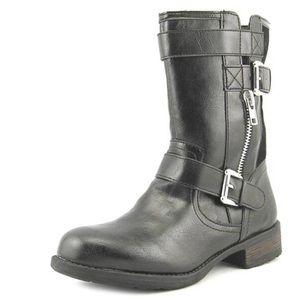 Sugar Ravin Vegan Leather Moto Boot